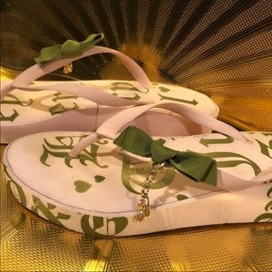 Juicy Couture flip flops size 8.5
